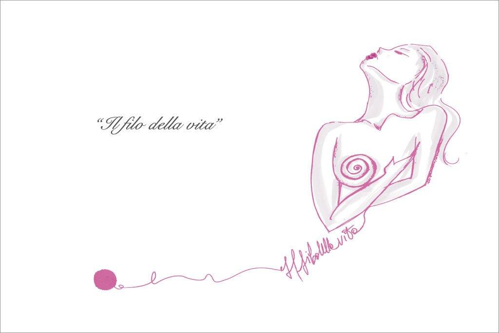 La Via della Seta Francesca Paterno disegna il logo de Il Filo della Vita